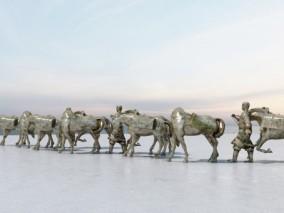 现代丝绸之路雕塑
