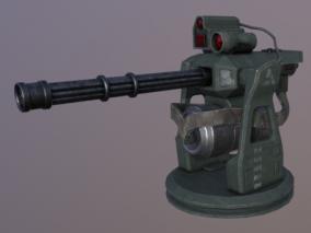防空炮塔3d模型