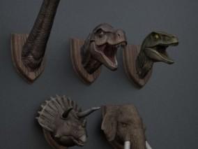 墙体恐龙艺术雕塑