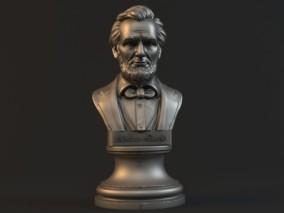 亚伯拉罕·林肯半胸像3d雕塑