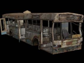 废弃大巴车