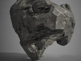 写实岩石 陨石 石头