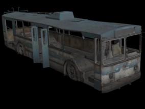 废弃公共电车