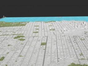 旧金山城市沙盘3d模型