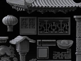 中国风复古建筑装饰