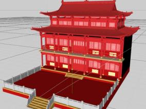 中式古风房子(OC渲染器)