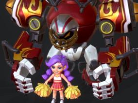 PBR 小萝莉 机器人 守门员 啦啦队