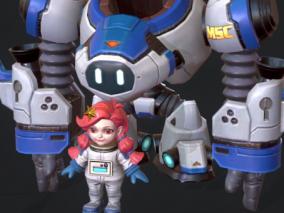 小萝莉 机器人 宇航员