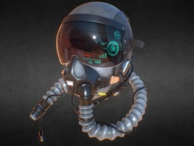 PBR-飞行员 宇航员头盔cg模型