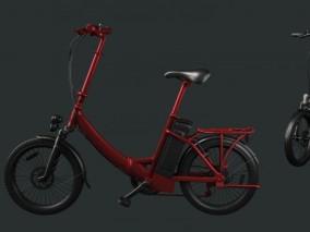电动自行车3d模型