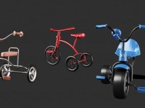 儿童三轮车3d模型