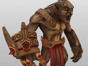 游戏怪物cg模型