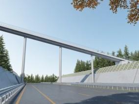 现代天桥桥梁交通道路