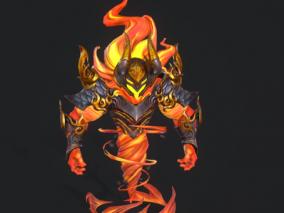 小怪 火魔cg模型