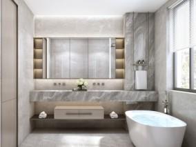 卫生间浴室3d模型