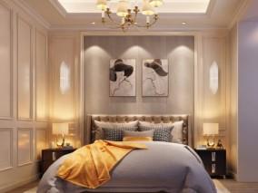 简欧风格卧室主卧室3D模型