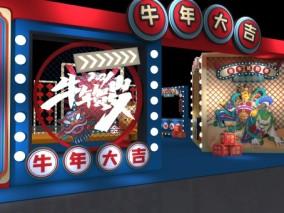 新年美陈dp点 3d模型