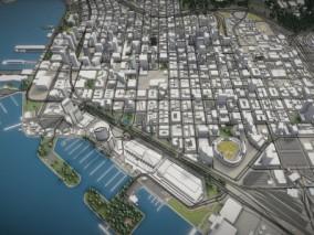 圣地亚哥3d城市模型