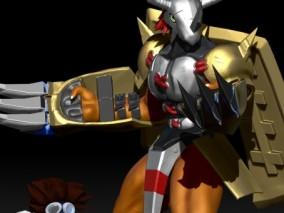 战斗暴龙兽3d打印模型
