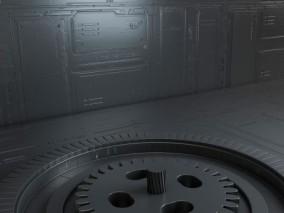 机械设备幻想场景C4D模型