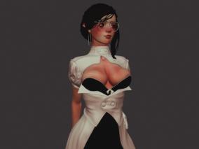 性感女孩白领CG模型
