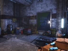 UE4写实地下仓库3D模型
