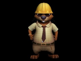 疯狂动物城松鼠3D模型