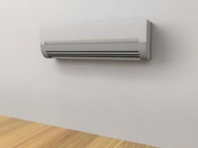 电器产品白色空调3D模型