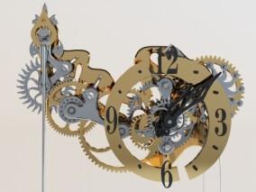 工业风格机械齿轮钟