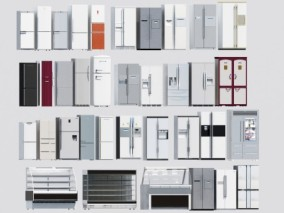 现代冰箱3d模型