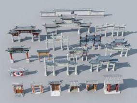 中式牌坊3d模型