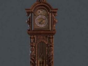 大笨钟 古董钟表cg模型
