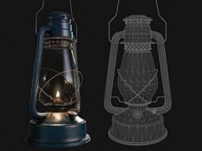 金属燃油灯3D模型