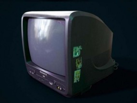 复古电视机3D模型