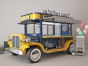 快餐车 奶茶车3d模型