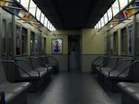 地铁车厢3D模型
