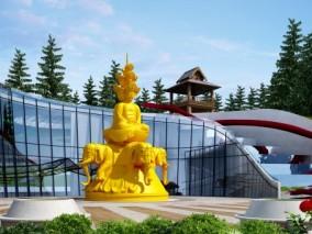 东南亚佛像雕塑3D模型