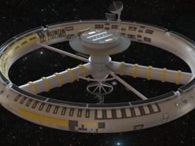 PBR次时代太空空间站Cg模型