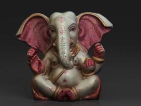印度象头神3D雕塑模型