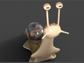 卡通蜗牛CG模型