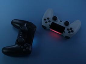 PS4游戏手柄3D模型