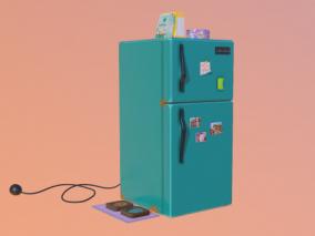 冰箱 卡通冰箱cg模型