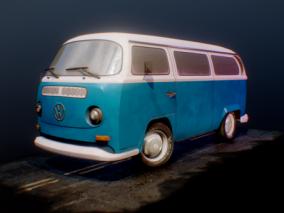 大众巴士 大众面包车cg模型
