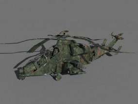 PBR损坏的直升机CG模型