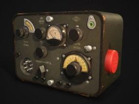 无线电 信号接收器 3d模型