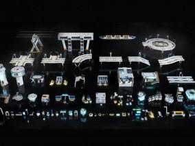 科技街道 科技道路 科幻建筑cg模型