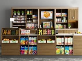 现代水果店货品陈设3D模型