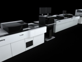 全自动生化分析仪医疗设备模型 3d模型