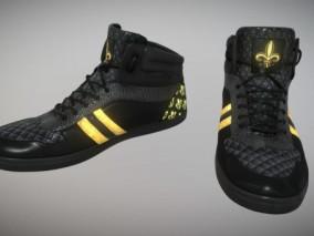 黑金运动鞋cg模型