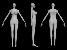 女人体(自做简模)练习作品 3d模型